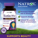 Natrol Biotin Extra Strength 5000 mcg- 250 Fast Dissolve Strawberry Flavored Tablets